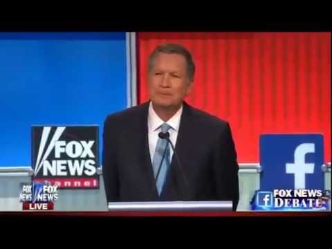 Full John Kasich Answers at Republican Presidential Debate (8-6-15)