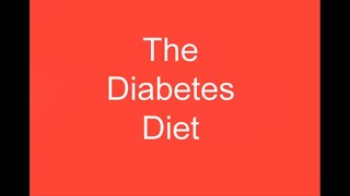 The diabetes diet - learn how to get an ...