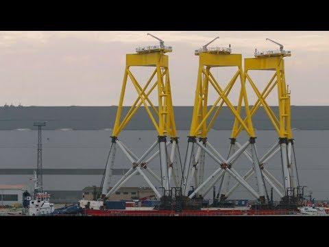 ST³ Offshore Wind Farm 1,905 Tons Borkum Riffgrund 2 Suction Bucket Jacket Wind Farm 4/4
