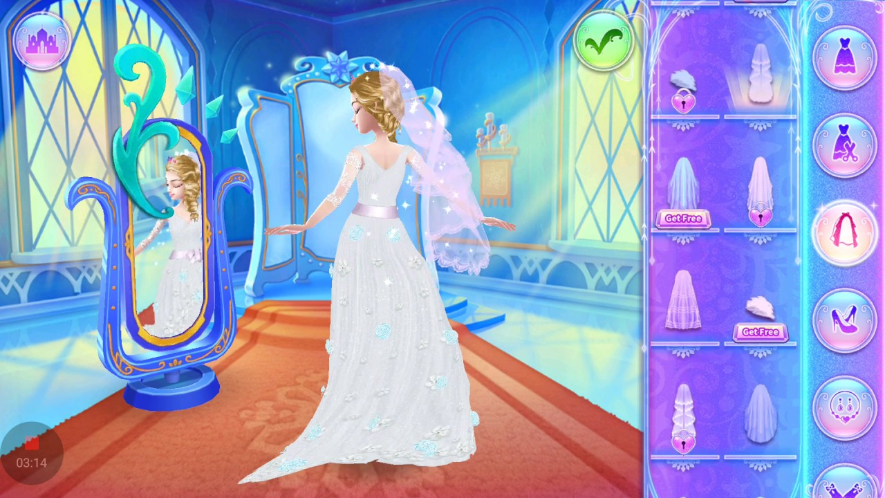 Ice Princess Wedding Dress Up Game - YouTube