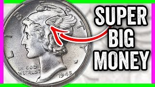 $96,000 RARE DIME - HOW TO TELL IF YOU HAVE THIS 1945 MERCURY DIME WORTH MONEY
