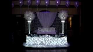 Pintuck Wedding Sweetheart Table Cloth Linens by Sweet 16 Candelabras