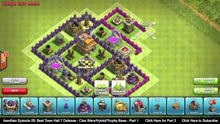 BEST Town Hall Level 7 (TH7) Defense Strategy - Clan Wars/Hybrid/Trophy Base (Clash of Clans) Part 1