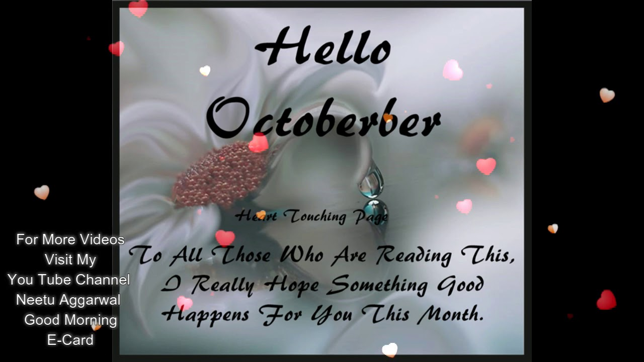 Happy New Monthwelcome Octoberhello Octoberhappy October Youtube