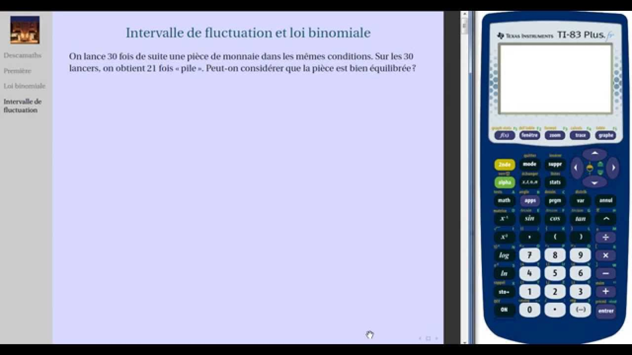 intervalle de fluctuation loi binomiale calculatrice