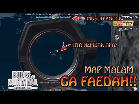 SUSAH BENER MAIN MAP MALAM !!! - Rules of Survival PC Indonesia