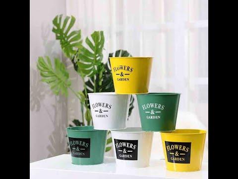 Garden flower pots iron bucket flower shop flower stand pot
