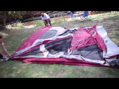 Ozark Trail 12 Person Cabin Tent With Screen Porch Youtube