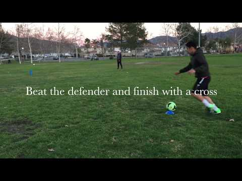 Football Skills: BEAT a DEFENDER Off the Ball