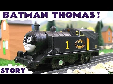 Thomas & Friends Toy Trains Superheroes Batman vs Joker Penguin and Riddler Funny Story TT4U