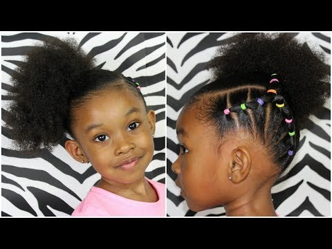 Piggy Back Side Ponytail | Hairstyles For Kids Girls