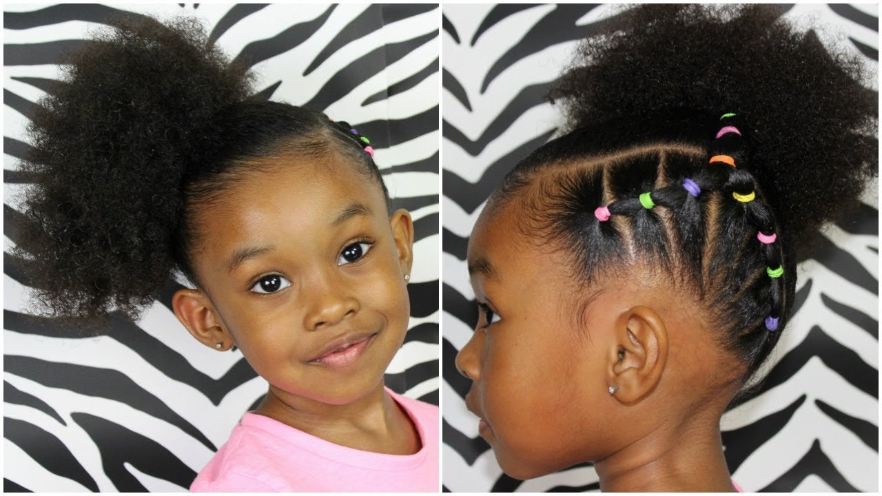 piggy back side ponytail   hairstyles for kids girls