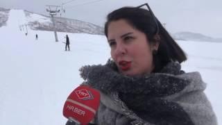 ovacık kayak merkezi kayak severlerin akınına uğradı