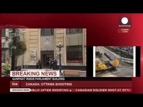 Canada: Soldier shot, gunfight in parliament in Ottawa (recorded LIVE feed)