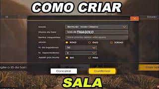 COMO CRIAR UMA SALA NO FREE FIRE! (COMO CRIAR SALA PERSONALIZADA NO FREE FIRE BATTLEGROUNDS)