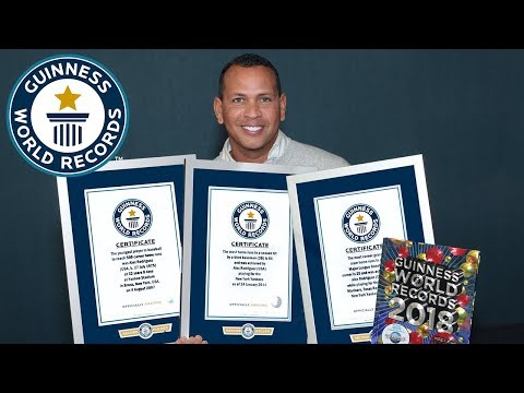 Alex Rodriguez earns three titles for his MLB career – Guinness World Records