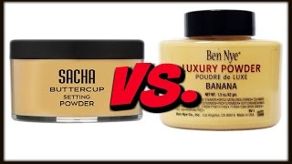 Ben Nye Banana Powder VS. Sacha Buttercup Powder :DEMO