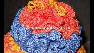 Цветок весенний - вязание крючком - Crochet flower