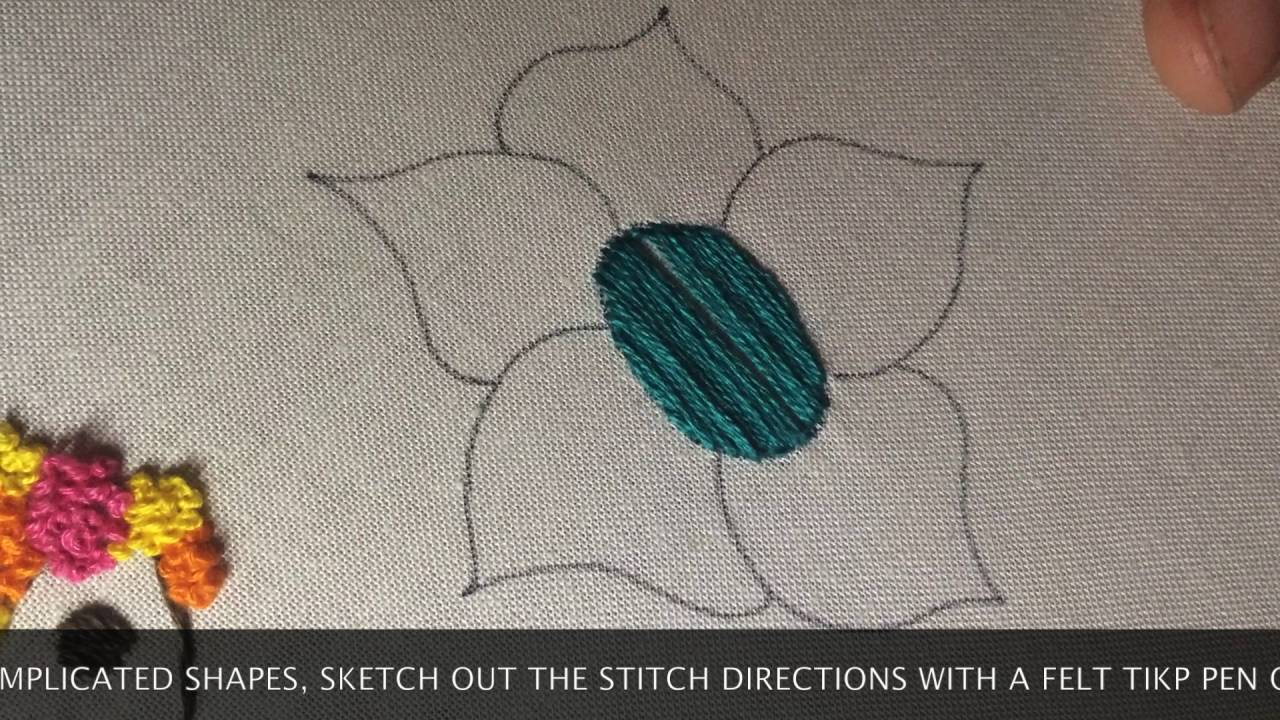 How To Satin Stitch Youtube