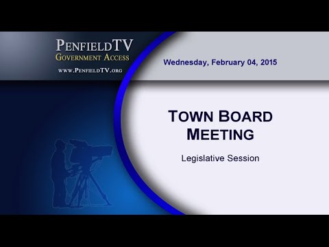 2015-02-04 PEN Town Board Legislative Mtg
