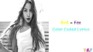 BoA - Fox (Han/Rom/Eng lyrics)