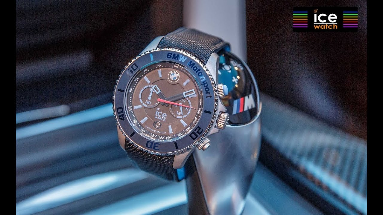ice watch bmw motorsport steel dark light blue. Black Bedroom Furniture Sets. Home Design Ideas