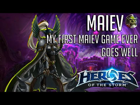Maiev Cage - My First Maiev Game ever with Most Teamfight Hero Damage! HoTS Heroes of the Storm