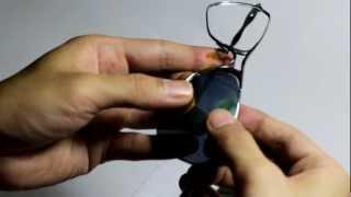 Lenses Installation Video For Oakley Crosshair Sunglasses