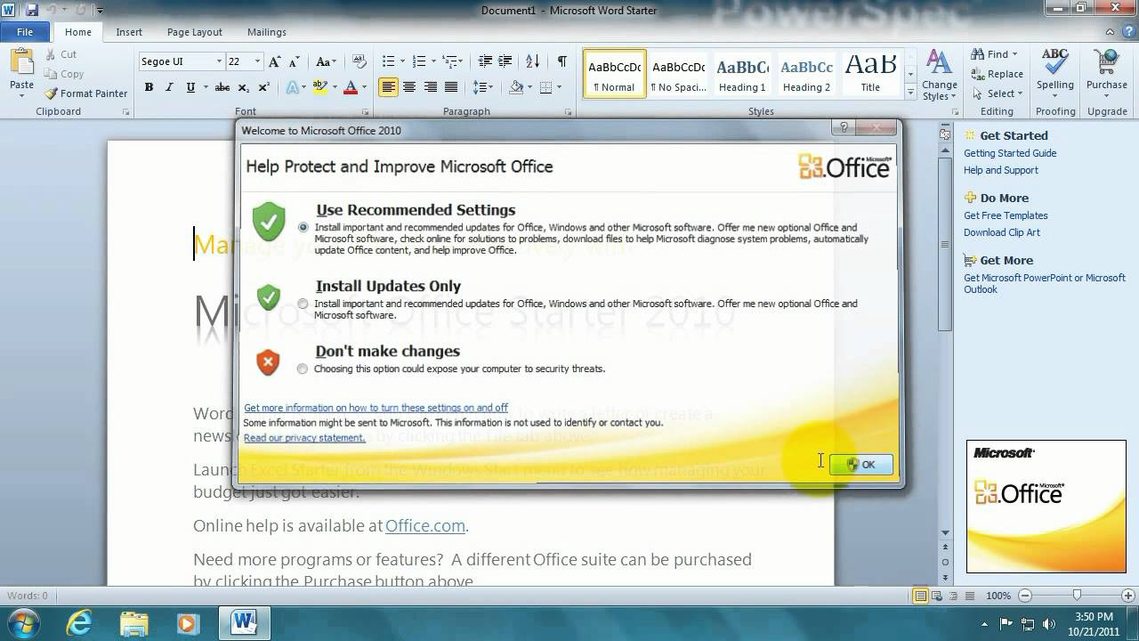 Tech Support: How to activate Microsoft Office Starter 2010