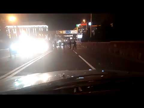 Полицейские перекрыли улицу в центре Алматы