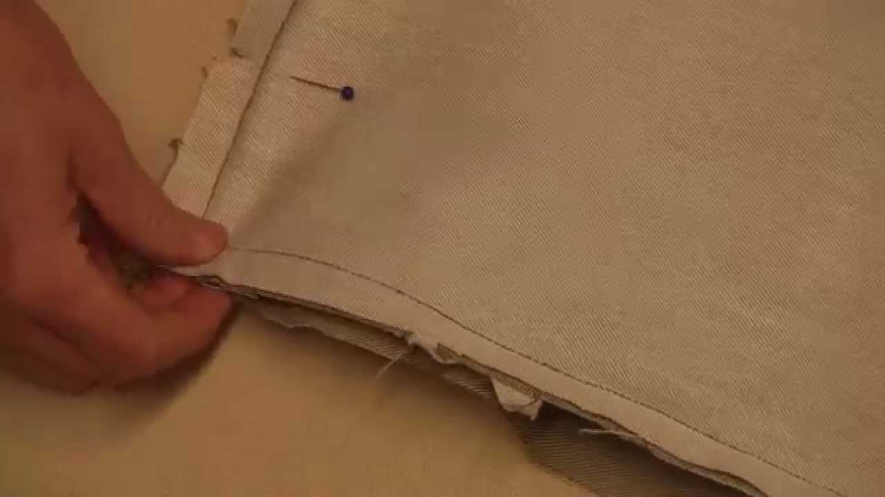 How to sew a zipper in a pillow with piping Doovi