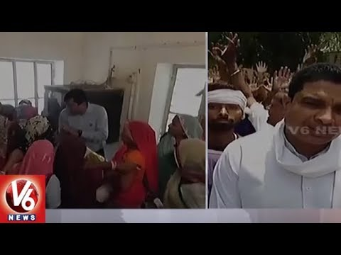 Women In Rajasthan's Dholpur Beats Govt Official With Slippers Over Water Supply | V6 News