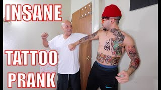 INSANE TATTOO PRANK ON ARAB DAD!! *gone extremely wrong*
