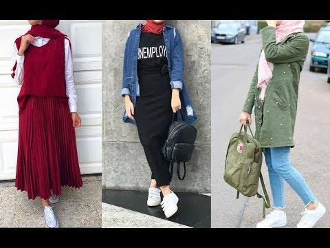 54673def3 تنسيق ملابس محجبات للخريف 2019 Early Autumn Hijab Lookbook - YouTube