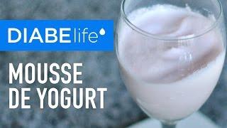 Mousse de yogurt sin azúcar