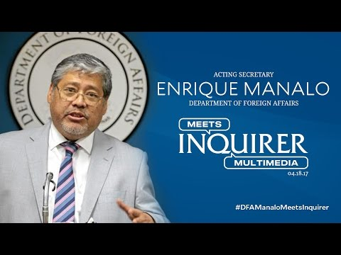 LIVE: Acting Foreign Affairs Secretary Enrique Manalo meets Inquirer Multimedia