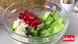 Салат из Сёмги и свежих овощей - Как же это ВКУСНО!