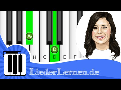 Lena Meyer Landrut - Touch A New Day - Klavier lernen - Musiknoten - Akkorde