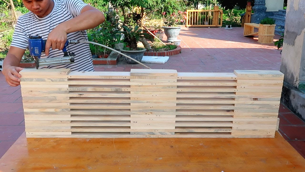 Novelty Recycling Idea From Wood Pallet That You Have Never Seen // Best DIY Wood Garden Bench Plans