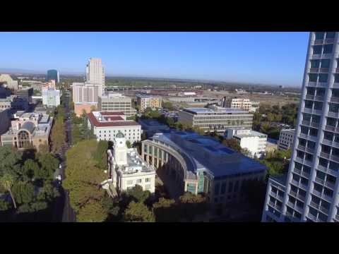 Drone over Sacramento, Golden 1 Center