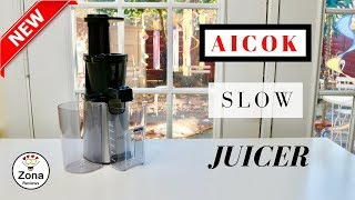 😍  AICOK   ❤️    Slow  Masticating Juicer - Review  ✅   NEW 2018