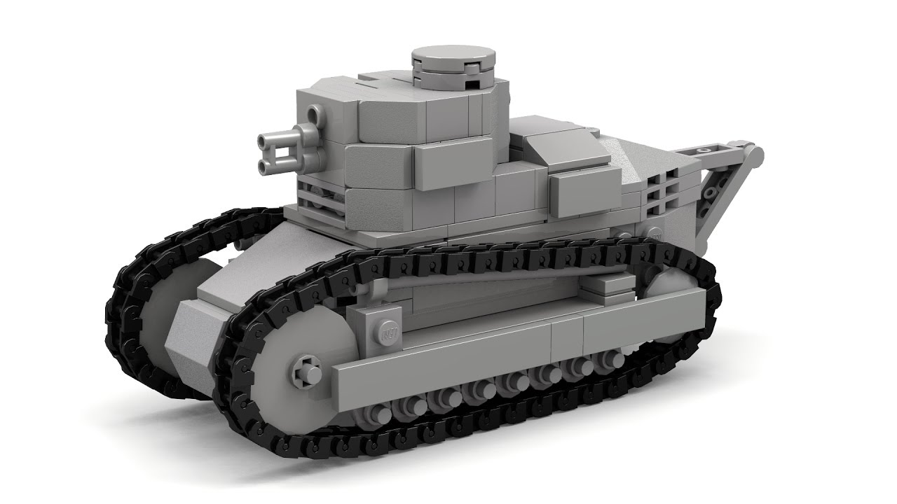 lego wwi french renault ft 17 m1917 light tank instructions part