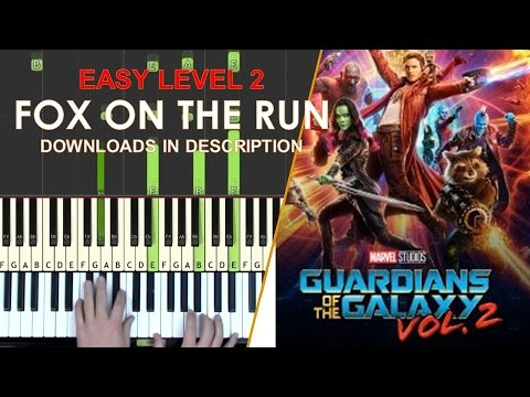 How to play Fox On The Run easy LEVEL 2 piano cover tutorial for kids