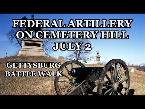 Artillery on Cemetery Hill on July 2nd - Gettysburg Battle Walk with Ranger Bert Barnett