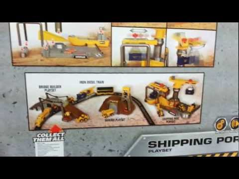 Cat Shipping Port Playset With Construction Sounds