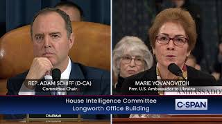 Rep. Schiff reads President Trump tweets about Marie Yovanovitch