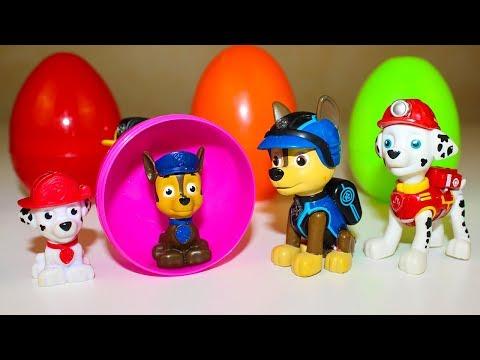 Сюрпризы Щенячий патруль Игрушки Киндер Сюрпризы Видео для детей Surprise eggs toys Paw Patrol