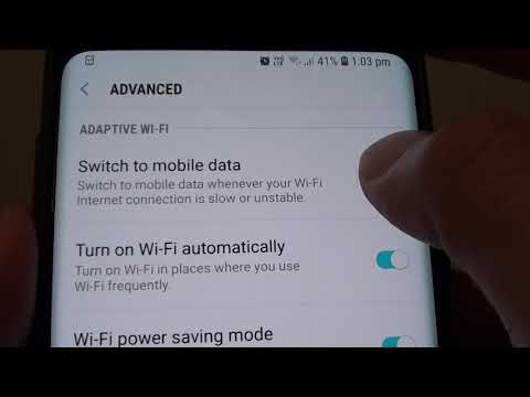 Enable / Disable Switch To Mobile Data On Samsung Galaxy S9 / S9 Plus