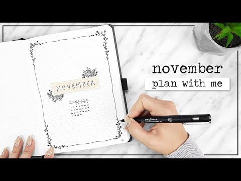 PLAN WITH ME // November Bullet Journal Setup + Q&A