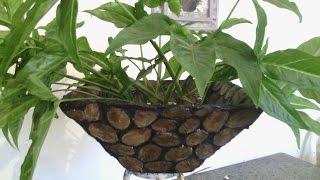 Vaso de papelão com efeito de pedra
